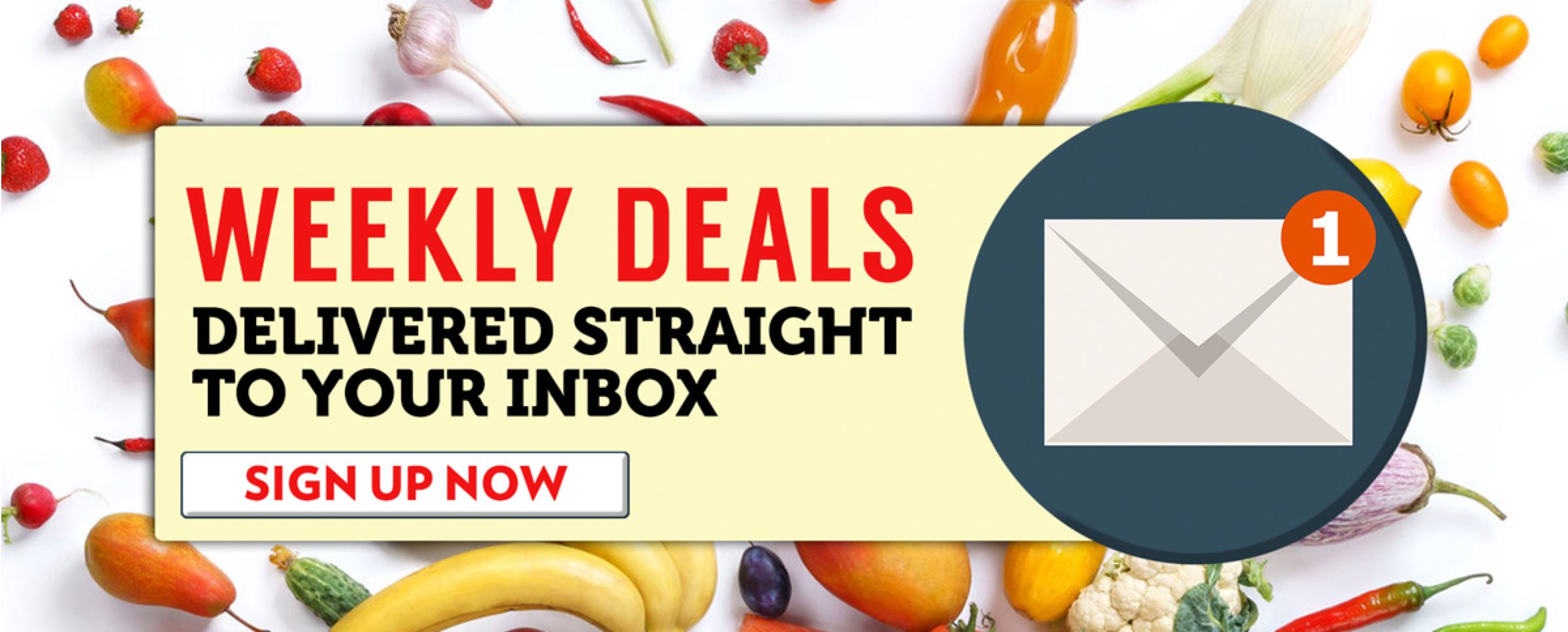 Weekly Deals Delivered Straight To Your Inbox